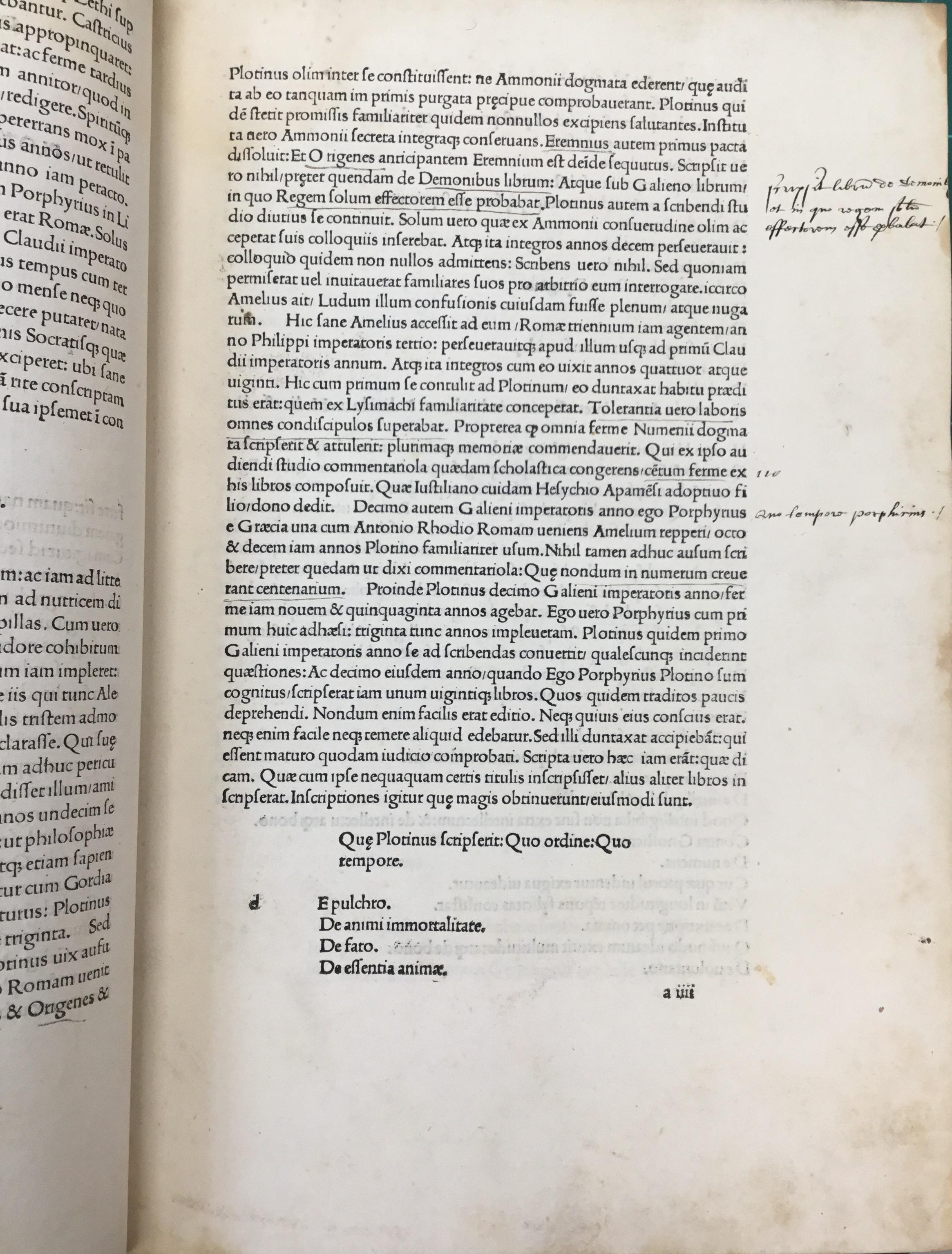 Plotinus marginalia